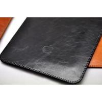 Кожаный вощеный мешок с логотипом для Ipad Pro Черный
