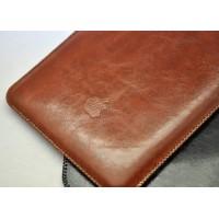 Кожаный вощеный мешок с логотипом для Ipad Pro Коричневый