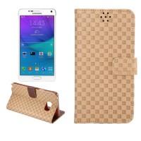 Текстурный чехол флип подставка с застежкой с отделением для карт для Samsung Galaxy Note 5 Бежевый