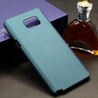 Пластиковый матовый металлик чехол для Samsung Galaxy Note 5 Зеленый