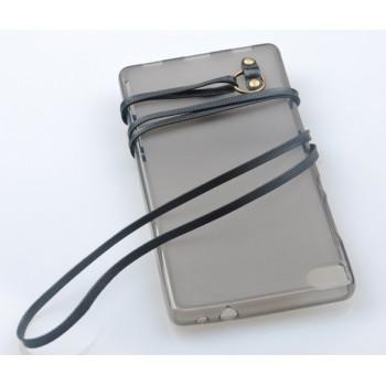 Силиконовый матовый полупрозрачный чехол с шнурком для Huawei Honor 4X