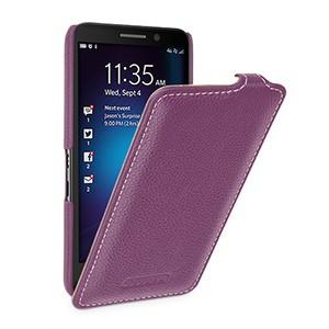 Кожаный чехол вертикальная книжка (нат. кожа) с защёлкой для Blackberry Z30