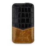Кожаный чехол вертикальная книжка (2 вида нат. кожи) ручной работы с застёжкой для Blackberry Classic