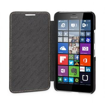 Кожаный чехол горизонтальная книжка (нат. кожа) для Microsoft Lumia 640 XL