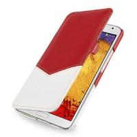Кожаный чехол горизонтальная книжка с отделением для карты (2 вида нат. кожи) с крепежной застежкой для Samsung Galaxy Note 3