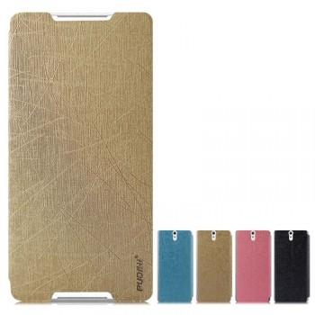 Текстурный чехол флип подставка на присоске для Sony Xperia C5 Ultra