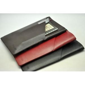 Кожаный дизайнерский z-образный мешок с внешним карманом и логотипом для Ipad Mini 4