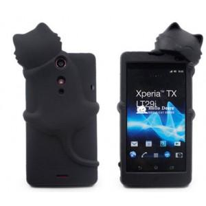 Силиконовый дизайнерский фигурный чехол для Sony Xperia TX