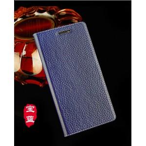 Кожаный чехол горизонтальная книжка подставка на пластиковой основе с магнитной крышкой для Lenovo A2010 Синий