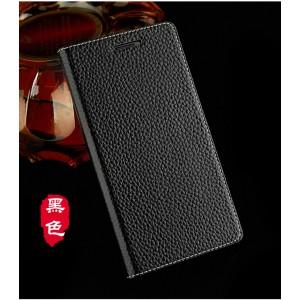 Кожаный чехол горизонтальная книжка подставка на пластиковой основе с магнитной крышкой для Lenovo A2010 Черный
