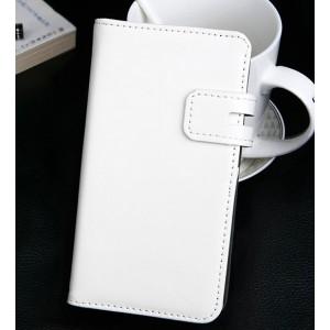 Чехол портмоне с магнитной застежкой для Lenovo A2010 Белый
