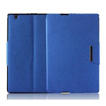 Текстурный чехол подставка с внутренними отсеками и магнитной застежкой на силиконовой основе для Sony Xperia Z4 Tablet
