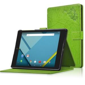 Чехол подставка текстурный на поликарбонатной основе с магнитной застежкой для Google Nexus 9 Зеленый