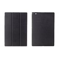 Чехол флип подставка сегментарный на поликарбонатной основе для Sony Xperia Z4 Tablet Черный