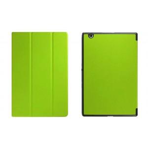 Чехол флип подставка сегментарный на поликарбонатной основе для Sony Xperia Z4 Tablet Зеленый
