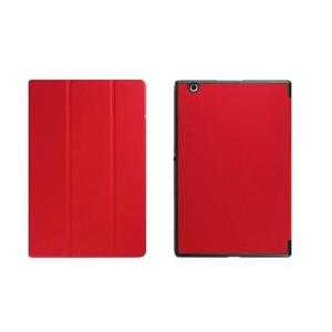 Чехол флип подставка сегментарный на поликарбонатной основе для Sony Xperia Z4 Tablet Красный