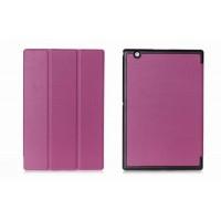 Чехол флип подставка сегментарный на поликарбонатной основе для Sony Xperia Z4 Tablet Фиолетовый