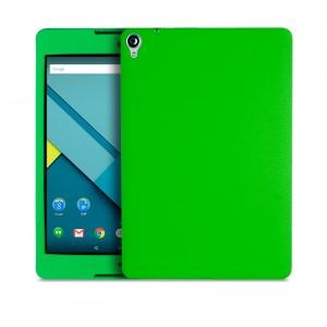 Силиконовый матовый непрозрачный чехол для Google Nexus 9 Зеленый