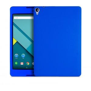 Силиконовый матовый непрозрачный чехол для Google Nexus 9 Синий