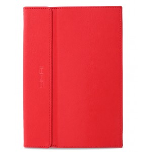 Текстурный чехол папка подставка с рамочной защитой экрана и подложкой для клавиатуры для Google Nexus 9 Красный