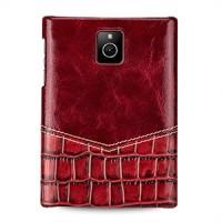 Кожаный чехол накладка (нат. кожа двух видов) ручной работы для Blackberry Passport