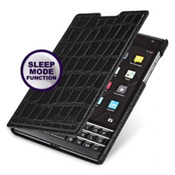 Кожаный смарт чехол горизонтальная книжка (нат. кожа крокодила) для Blackberry Passport