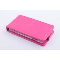 Чехол вертикальная книжка на пластиковой основе с магнитной застежкой для Fly IQ434 Era Nano 5 Пурпурный
