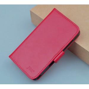 Чехол портмоне подставка на пластиковой основе с магнитной застежкой для Fly IQ434 Era Nano 5