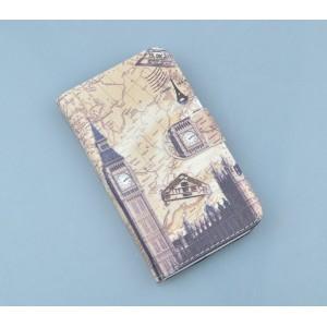 Текстурный чехол портмоне подставка с магнтиной застежкой для Fly IQ4501 EVO Energie 4 Quad