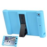 Детский силиконовый противоударный защитный чехол со встроенной подставкой для Xiaomi MiPad Синий