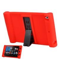 Детский силиконовый противоударный защитный чехол со встроенной подставкой для Xiaomi MiPad Красный