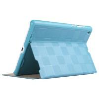 Чехол подставка на поликарбонатной основе текстура Квадраты для Xiaomi MiPad Голубой