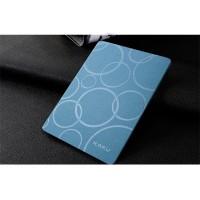 Чехол подставка на поликарбонатной основе текстура Круги для Xiaomi MiPad Голубой