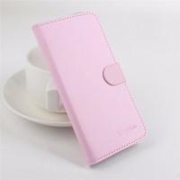 Чехол портмоне подставка с магнитной застежкой на силиконовой основе для Fly Iq4403 Energie 3 Розовый