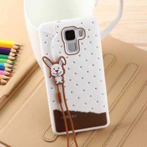 Силиконовый дизайнерский фигурный чехол для Huawei Honor 7 Белый