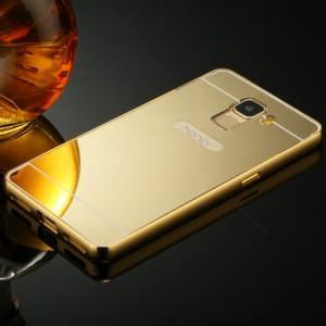 Двухкомпонентный чехол с металлическим бампером и поликарбонатной крышкой с зеркальным покрытием для Huawei Honor 7