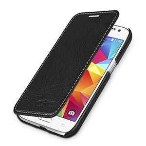 Кожаный чехол горизонтальная книжка (нат. кожа) для Samsung Galaxy Core Prime