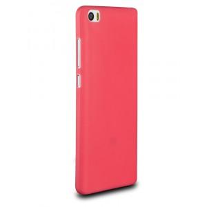Силиконовый матовый нанотонкий 0.39 мм чехол для Xiaomi Mi Note Красный