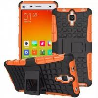 Антиударный силиконовый чехол экстрим защита с подставкой для Xiaomi Mi4 Оранжевый