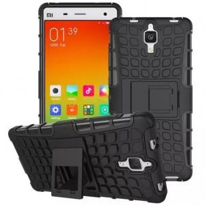 Антиударный силиконовый чехол экстрим защита с подставкой для Xiaomi Mi4 Черный