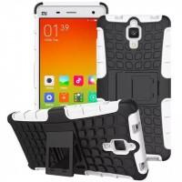 Антиударный силиконовый чехол экстрим защита с подставкой для Xiaomi Mi4 Белый