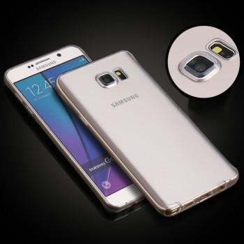 Экстратонкий 0.5 мм силиконовый матовый полупрозрачный чехол с допзащитой объектива камеры для Samsung Galaxy Note 5