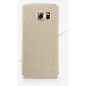 Пластиковый матовый нескользящий премиум чехол для Samsung Galaxy Note 5 Бежевый