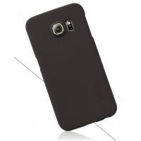 Пластиковый матовый нескользящий премиум чехол для Samsung Galaxy Note 5 Черный
