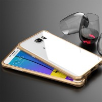 Металлический премиум бампер сборного типа для Samsung Galaxy Note 5 Бежевый