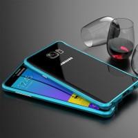 Металлический премиум бампер сборного типа для Samsung Galaxy Note 5 Синий