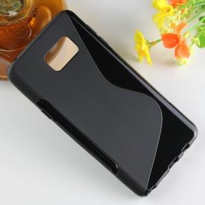 Силиконовый S чехол для Samsung Galaxy Note 5 Черный
