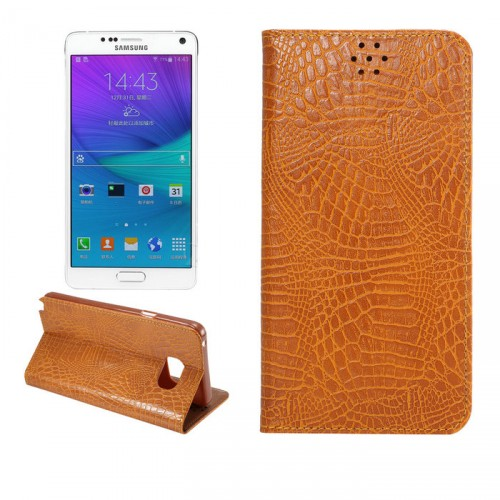 Чехол флип подставка на пластиковой основе с отделением для карт текстура Змея для Samsung Galaxy Note 5