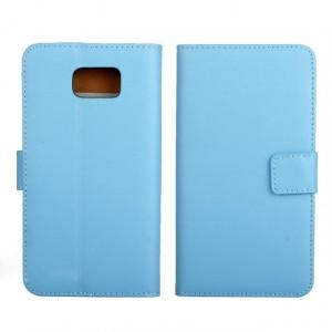 Чехол портмоне подставка для Samsung Galaxy Note 5 Голубой