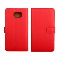 Чехол портмоне подставка для Samsung Galaxy Note 5 Красный